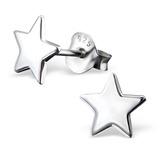 Sterling Silver Star Stud Earrings Star - 1 Pair