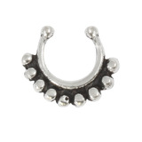 Sterling Silver Clip On Septum Rings SC3, 1.2mm, 7mm, One Ring only.