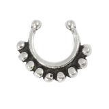 Sterling Silver Clip On Septum Rings - SKU 28057