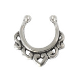 Sterling Silver Clip On Septum Rings SC7, 1.2mm, 7mm, One Ring only.