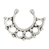 Sterling Silver Clip On Septum Rings SC8, 1.2mm, 7mm, One Ring only.