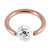Rose Gold Steel BCR with Smooth Glitzy Ball 1.2mm - SKU 28669