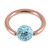 Rose Gold Steel BCR with Smooth Glitzy Ball 1.2mm - SKU 28677