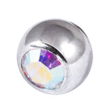 Steel Threaded Jewelled Balls 1.6x6mm crystal ab