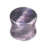 Amethyst Stone Double Flared Tapered Plug 8mm