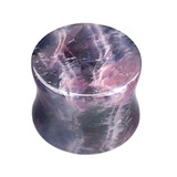 Amethyst Stone Double Flared Tapered Plug 10mm