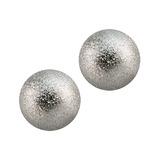Steel Threaded Shimmer Balls 1.6mm 1.6mm, 5mm. Pack of 2 balls.