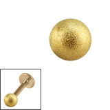 Zircon Steel Threaded Shimmer Balls 1.2mm (Gold colour PVD) 1.2mm, 3mm. One ball only.