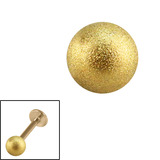 Zircon Steel Threaded Shimmer Balls 1.2mm (Gold colour PVD) 1.2mm, 4mm. One ball only.
