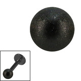 Black Steel Threaded Shimmer Balls 1.6mm - SKU 29343