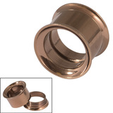 Vintage Copper Steel Internal Thread Double Flared Eyelet 14mm. Total external height of tunnel is 11mm.