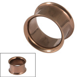 Vintage Copper Steel Double Flared Eyelet 14mm. Total external height of tunnel is 10mm.