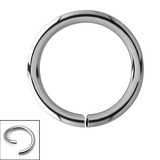 Titanium Continuous Rings (Seamless Ring) 0.8mm, 8mm, Mirror Polish