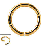 Titanium Continuous Rings (Seamless Ring) 1.0mm, 8mm, Yellow