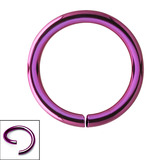 Titanium Continuous Rings (Seamless Ring) 0.8mm, 8mm, Purple