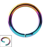 Titanium Continuous Rings (Seamless Ring) 0.8mm, 8mm, Rainbow