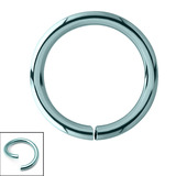 Titanium Continuous Rings (Seamless Ring) 0.8mm, 8mm, Ice Blue