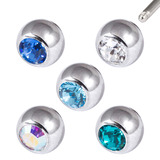 Multipack - Surgical Steel Threaded Jewelled Balls Set - SKU 29420