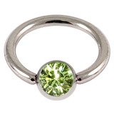 Steel Jewelled BCR 1.6mm Light Green / 12