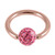 Rose Gold Steel BCR with Smooth Glitzy Ball 1.2mm - SKU 29790