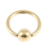 Zircon Steel Ball Closure Ring (BCR) (Gold colour PVD) 1.0mm, 7mm