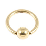 Zircon Steel Ball Closure Ring (BCR) (Gold colour PVD) 1.0mm, 10mm