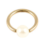 Zircon Steel BCR with Acrylic Pearl Ball 1.2mm, 11mm, 4mm