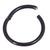 Black Steel Hinged Segment Ring (Clicker) - SKU 29889