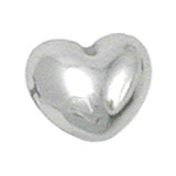 Steel Threaded Attachment - 1.2mm and 1.6mm Cast Steel Heart Heart, 1.6mm (7.2mm high attachment only)
