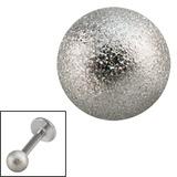 Steel Threaded Shimmer Balls 1.6mm 1.6mm, 8mm. One ball only.