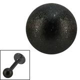 Black Steel Threaded Shimmer Balls 1.6mm - SKU 29996