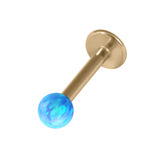 Zircon Steel Labret with Synthetic Opal Ball 1.2mm - SKU 30226