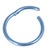 Titanium Hinged Segment Ring (Clicker) 1.2 and 1.6mm Gauge - SKU 30735