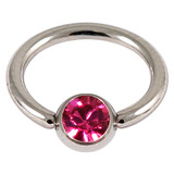 Steel Jewelled BCR 1.6mm Fuchsia / 14