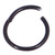 Black Steel Hinged Segment Ring (Clicker) - SKU 31177