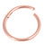 Rose Gold Titanium Hinged Segment Ring (Clicker) - SKU 32370