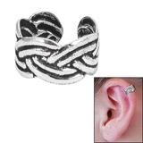 925 Sterling Silver Clip On Ear Cuff - Sailors Knot SEC4 - SKU 32575