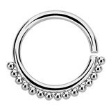 Steel Tribal Continuous Twist Ring (Seamless Ring) - SKU 32584