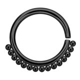 Black Steel Tribal Continuous Twist Ring (Seamless Ring) - SKU 32586
