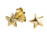 Sterling Silver Star Ear Stud Earrings - SKU 32607