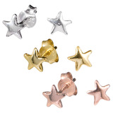 Sterling Silver Star Ear Stud Earrings - SKU 32609