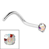 Titanium Claw Set Jewelled Nose Studs - SKU 32630