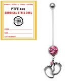 Sterile Pregnancy Belly Bars Baby Feet (PTFE) - SKU 32737