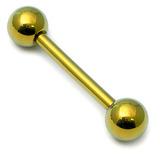 Titanium Barbell 1.6mm  6-16mm 14mm, 5mm, Gold