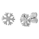 Steel Ear Stud Earrings with Snowflake - SKU 33081