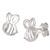 Sterling Silver Bumble Bees Ear Stud Earrings ES18 - SKU 33193