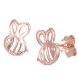 Sterling Silver Bumble Bees Ear Stud Earrings ES18 - SKU 33194