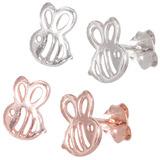Sterling Silver Bumble Bees Ear Stud Earrings ES18 - SKU 33195