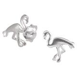 Sterling Silver Flo Flamingo Ear Stud Earrings ES24 - SKU 33196