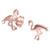 Sterling Silver Flo Flamingo Ear Stud Earrings ES24 - SKU 33197